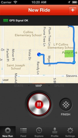 cycling tracker app iphone