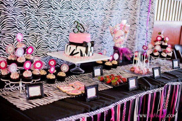 ... 20 hot pink with zebra print birthday zebra print 30th birthday bash
