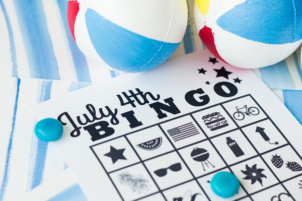 4th of july bingo cards printable