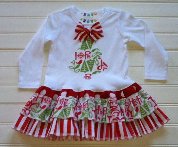 Christmas tree dress available 03 months by babythreadsbyliz 35 00