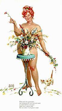 Hilda - arranging flowers