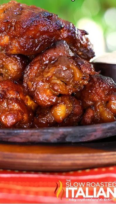 Simple Crock Pot Buffalo Chicken Wings | Let's Crock | Pinterest