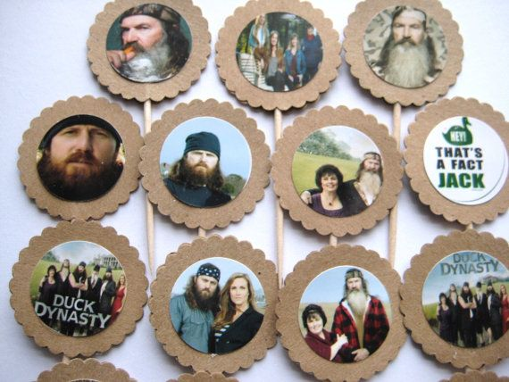15 Duck Dynasty Party Picks Cupcake Toppers by ThePrettyPaperShop, $5