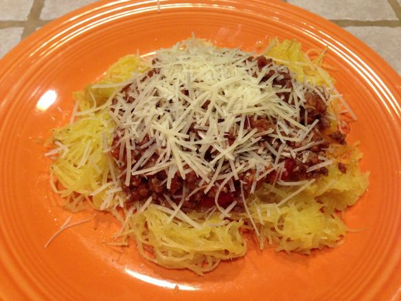Spaghetti Squash with Meat sauce | Recipes | Pinterest