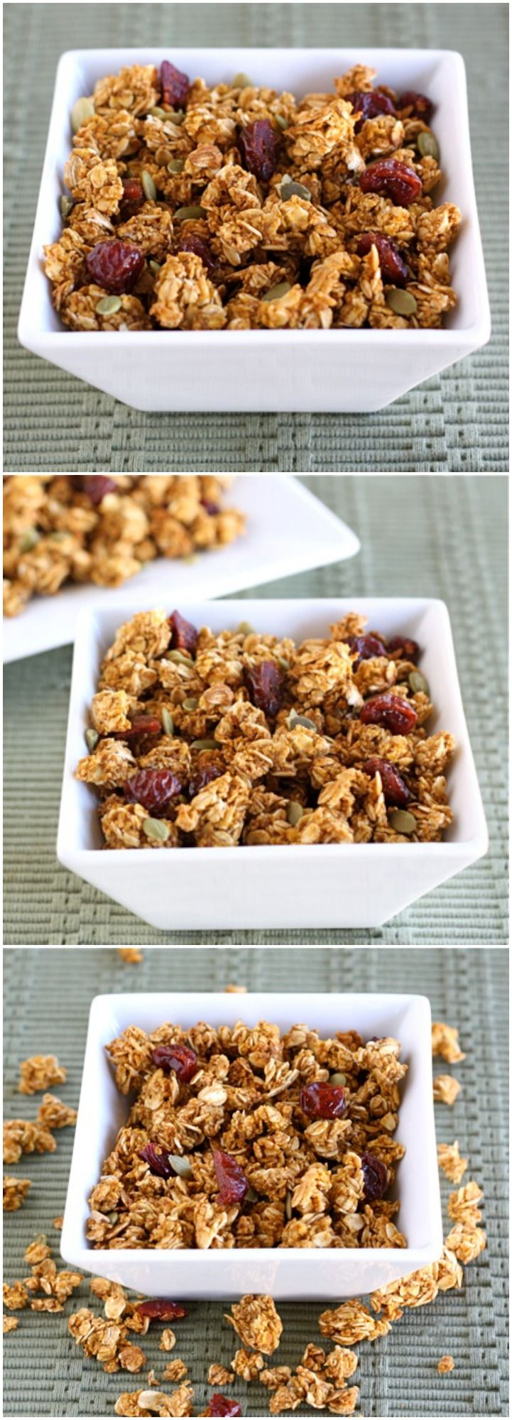Pumpkin Granola Recipe on twopeasandtheirpod.com Love this fall ...