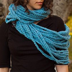 Very long and versatile infinity chain scarf.