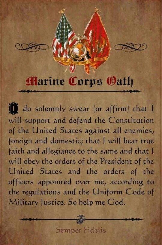 Marine Corp Oath | Marine Corps | Pinterest