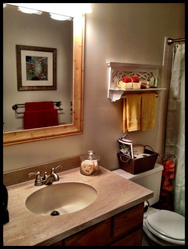 Small bathroom decor home ideas pinterest for Small bathroom decoration images