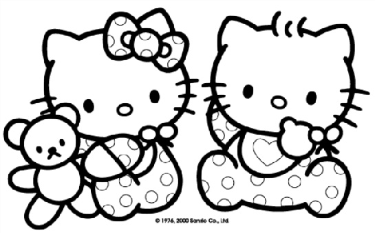 love hello kitty coloring pages - photo#23