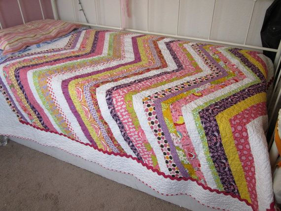 Modern Quilt - Chevron - Pre Teen or Teen Girl, Twin or Full size