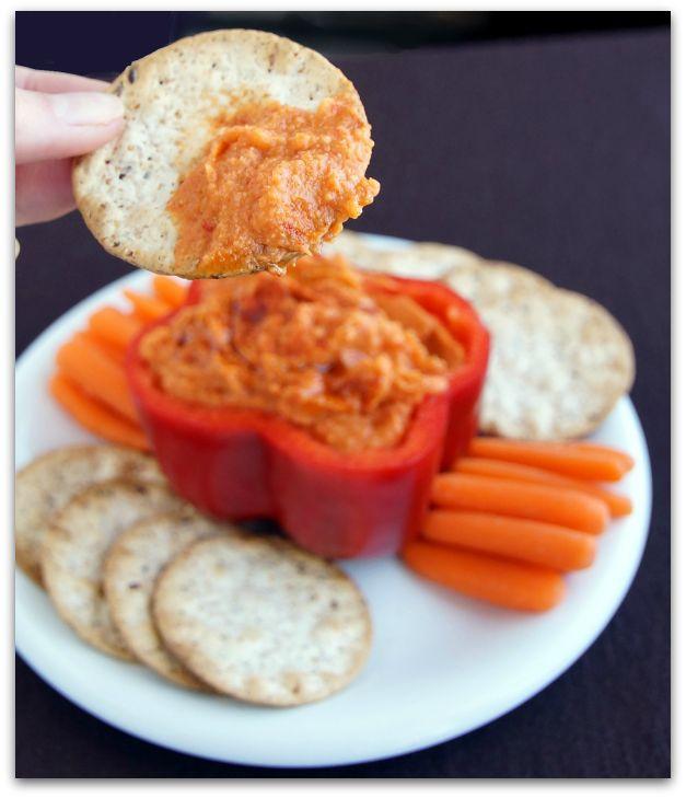 Roasted Red Pepper Hummus ♦ red bell pepper, garbanzo beans, lemon ...
