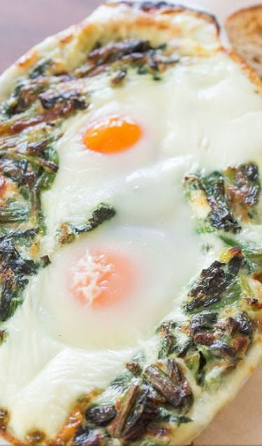 Creamed Spinach With Baked Eggs Recipes — Dishmaps