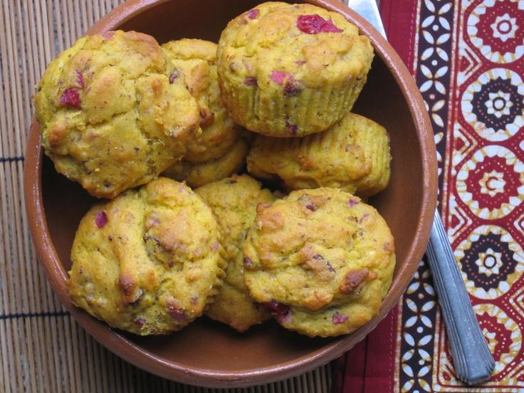 Pumpkin, Cranberry Cardamom Muffins | Gluten Free Recipes | Pinterest