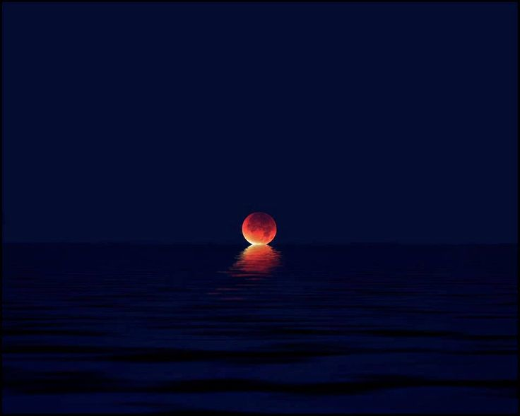 eclipse on the ocean