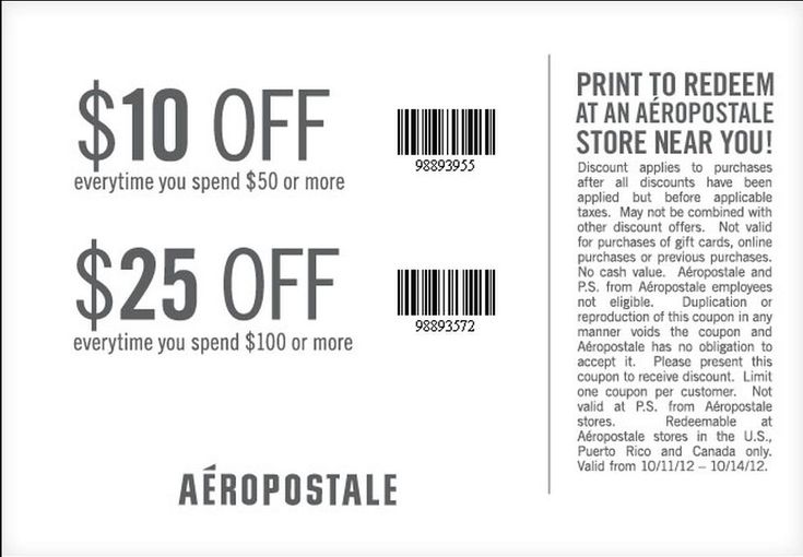 Ps aeropostale coupons 25 off