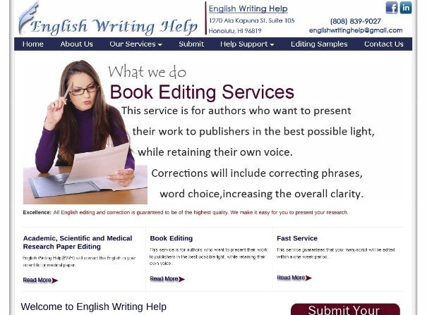 Scientific writing services company