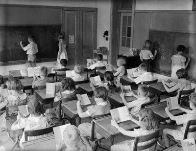 classe, école, photo vintage