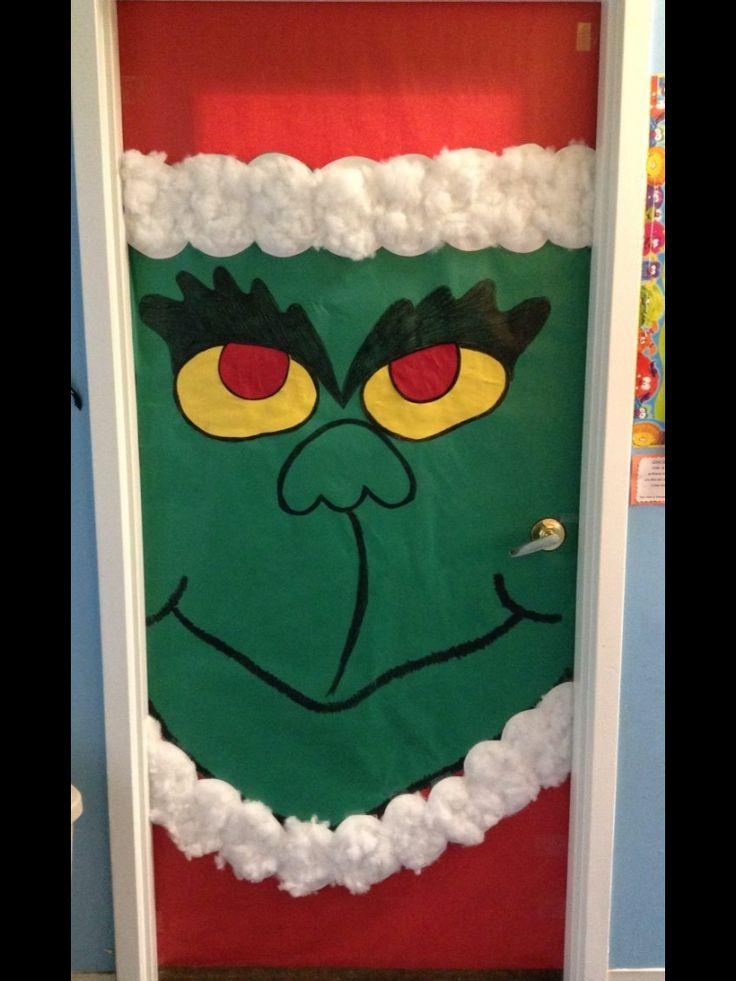 The grinch door decoration | Grinch Seuss Christmas | Pinterest