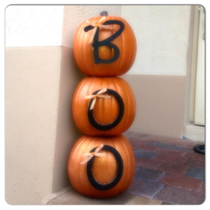 Simple diy 3 tier pumpkin decor halloween pinterest for 3 tier pumpkin decoration