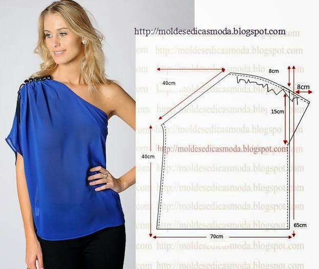 Plantillas de moda para Medida: BLUSA fácil de hacer - 13