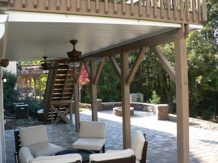 under deck ceiling with white seat patio ideas pinterest