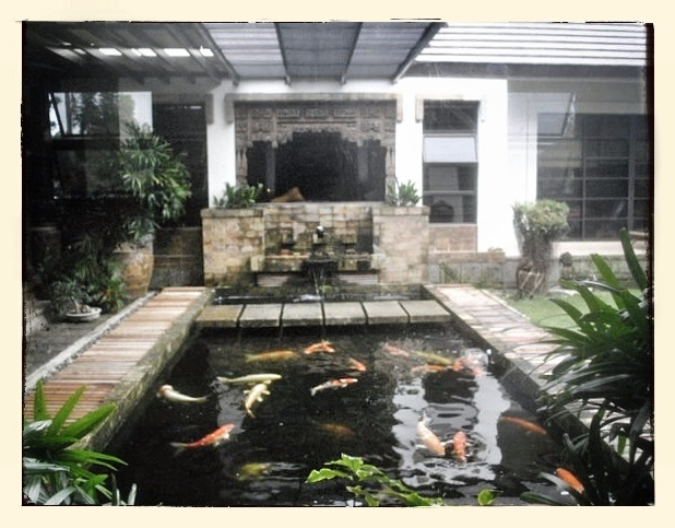 Fish pond inside the house house outside pinterest for Koi pond inside house