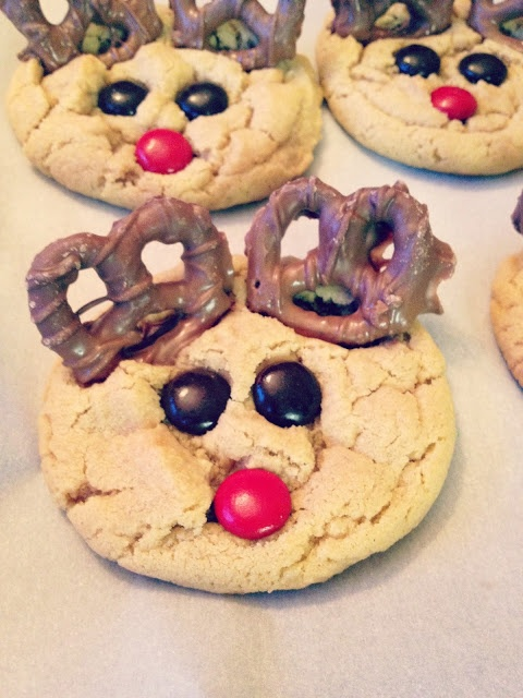 Rudolph cookies festive and delicious fluff that nest pinterest