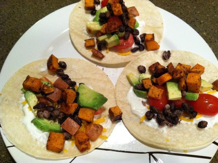 sweet potato and black bean tacos | Food | Pinterest