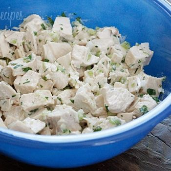 Lightened up chicken salad. This is definitely making its way into the ...