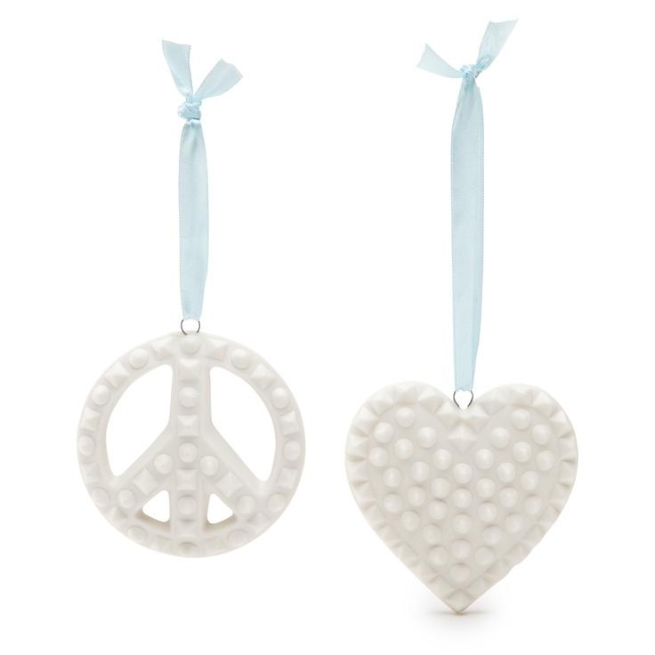 Jonathan Adler Charade Peace & Love Ornaments - eBay Holiday Collective