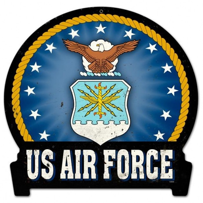 Retro air force round banner tin sign for Air force decoration