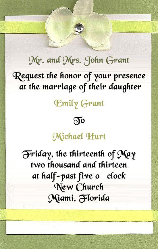 Wedding Invite Wording Couple Hosting as luxury invitations layout