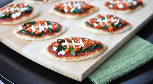 Football Spinach Pizzas | Recipe