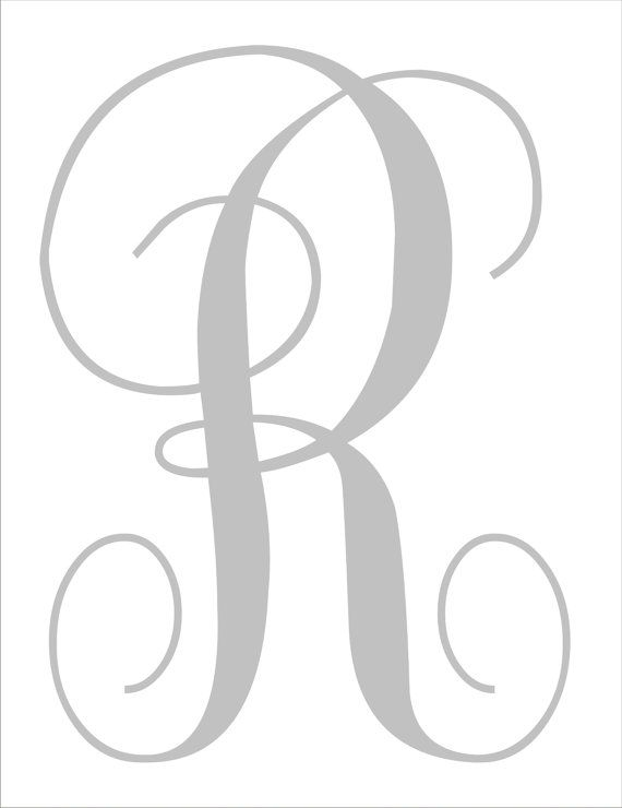 Diy wedding signs stencils custom monogram one large for Large monogram letter stencil