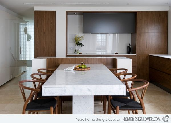 With angled island on kitchen designs with island attached table