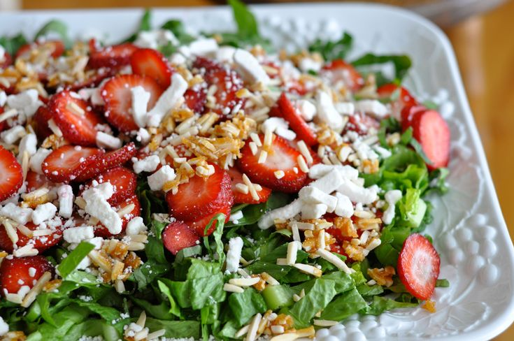 Spring Salad With Strawberry Lemon Basil Dressing Recipe — Dishmaps