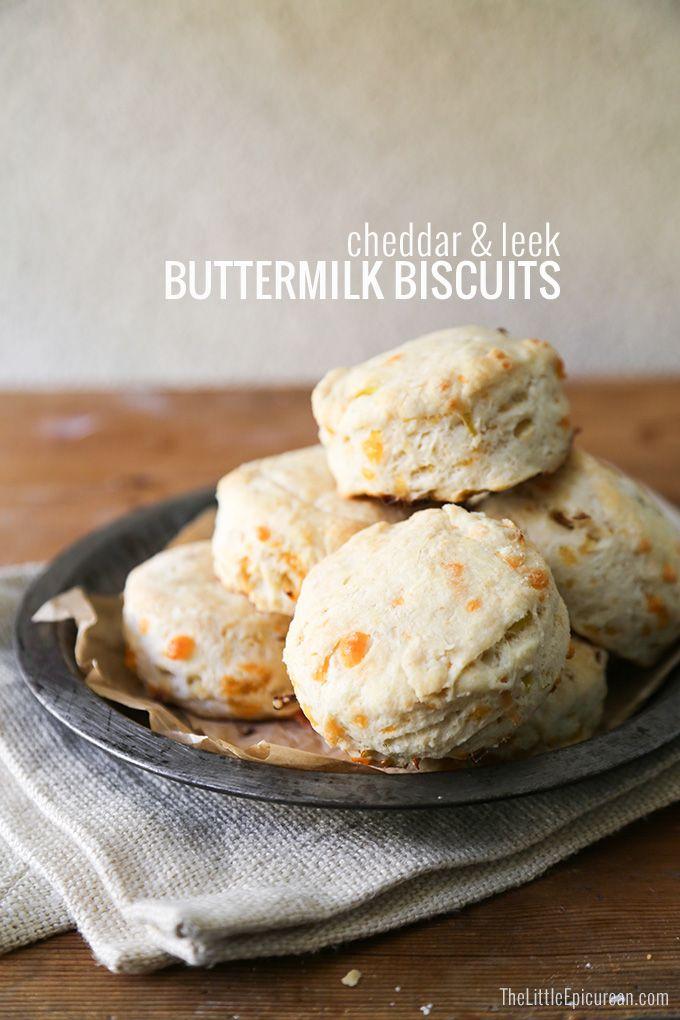 Cheddar and Leek Buttermilk Biscuits | Recipe