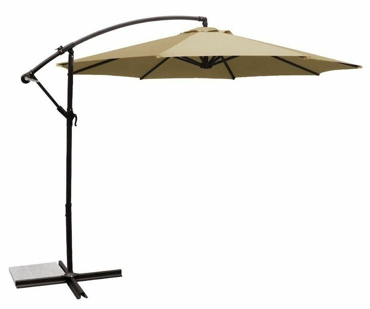 Backyard Umbrella Parts : NEW! Offset Patio Shade Umbrella Folding Shade Pool Backyard Playset