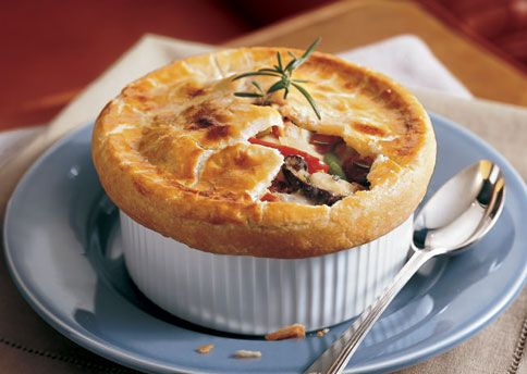 Chicken and Vegetable Pot Pies with Cream Cheese Crust - this is worth ...