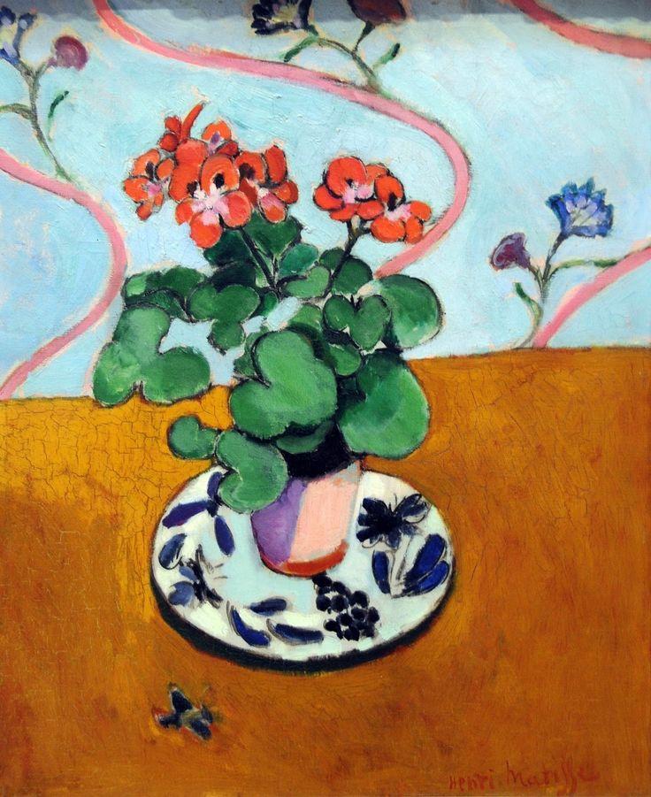 Henri Matisse - Gerani...