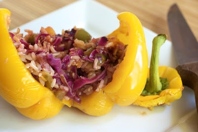 Naturally Ella | Sweet and Sour Stuffed Pepper | Naturally Ella