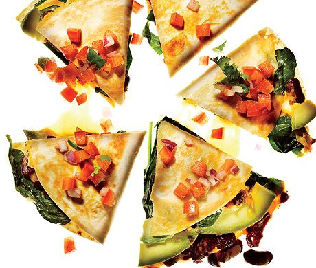 Vegetable Quesadillas with Fresh Salsa - Oh yes...