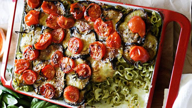 Eggplant and pesto pasta bake | recipes | Pinterest