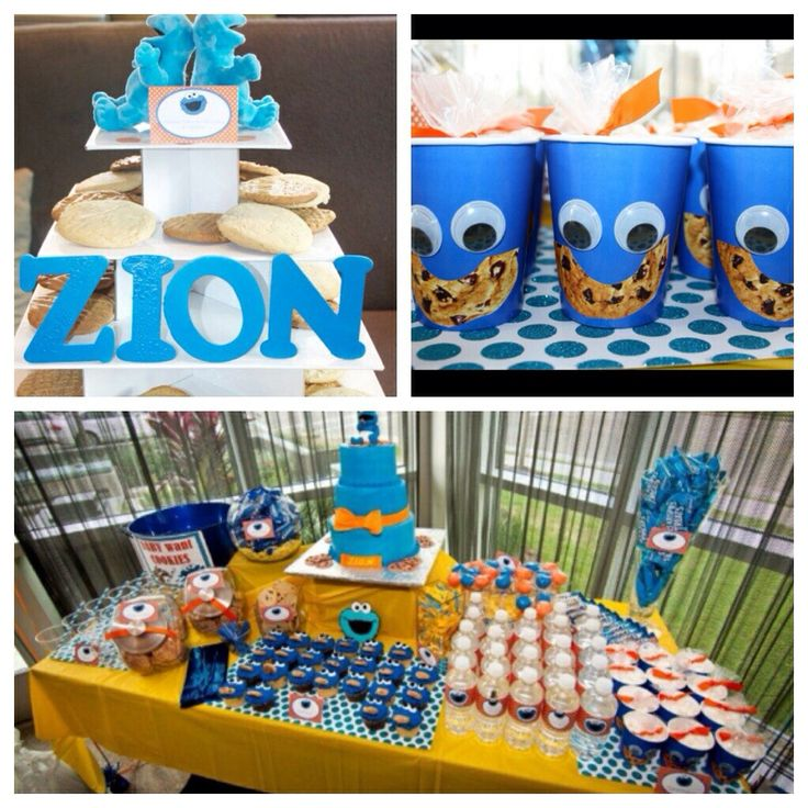cookie monster baby shower or birthday baby showers by chloe cook