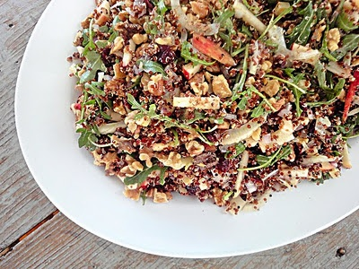 Red Quinoa Salad With Cauliflower And Walnuts Recipes — Dishmaps