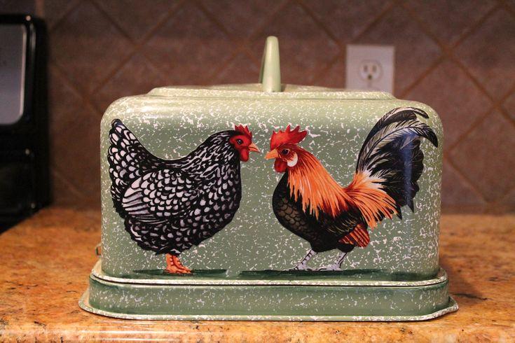 Rooster Kitchen Decor | ... Vintage Hand Decorated..Kitchen Decor..Chicken Collector...Home Decor