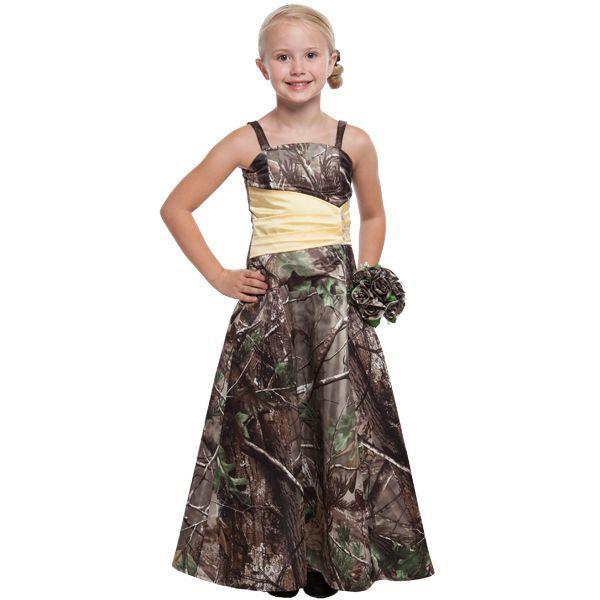camo flower girl dresses bridesmaid dresses