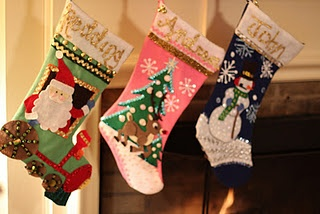 Homemade Christmas Stockings Christmas Ideas Pinterest