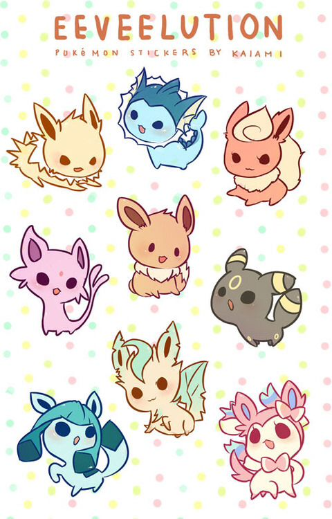 All Eevee Evolutions Pokemon Art Pinterest