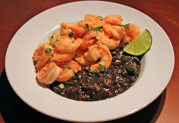 Cuban recipe for rice, shrimp, and black beans. I made these is ...